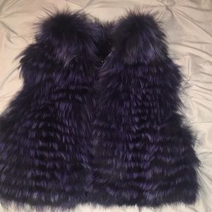 Elie Tahari died fox fur vest